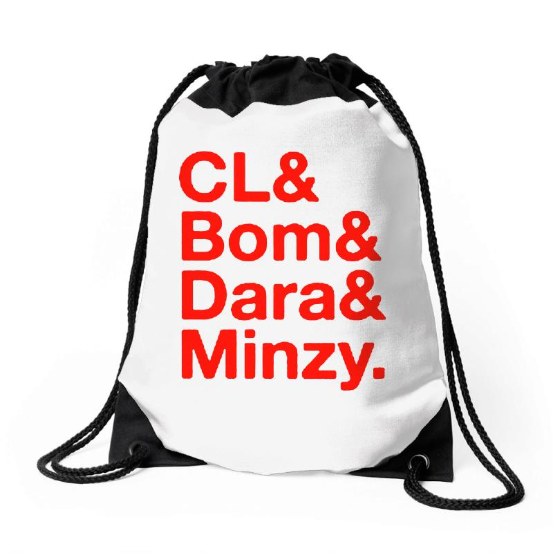 2ne1 Cl And Bom And Dara And Minzy   Red Drawstring Bags | Artistshot