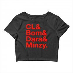 2ne1 cl and bom and dara and minzy   red Crop Top | Artistshot