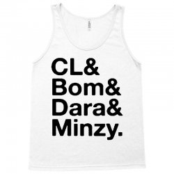 2ne1 cl and bom and dara and minzy   black Tank Top | Artistshot