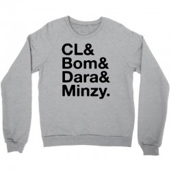 2ne1 cl and bom and dara and minzy   black Crewneck Sweatshirt | Artistshot
