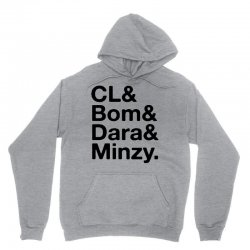 2ne1 cl and bom and dara and minzy   black Unisex Hoodie | Artistshot