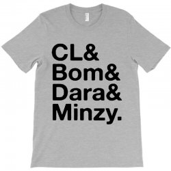 2ne1 cl and bom and dara and minzy   black T-Shirt | Artistshot