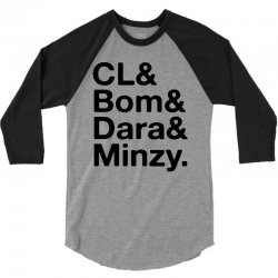 2ne1 cl and bom and dara and minzy   black 3/4 Sleeve Shirt | Artistshot