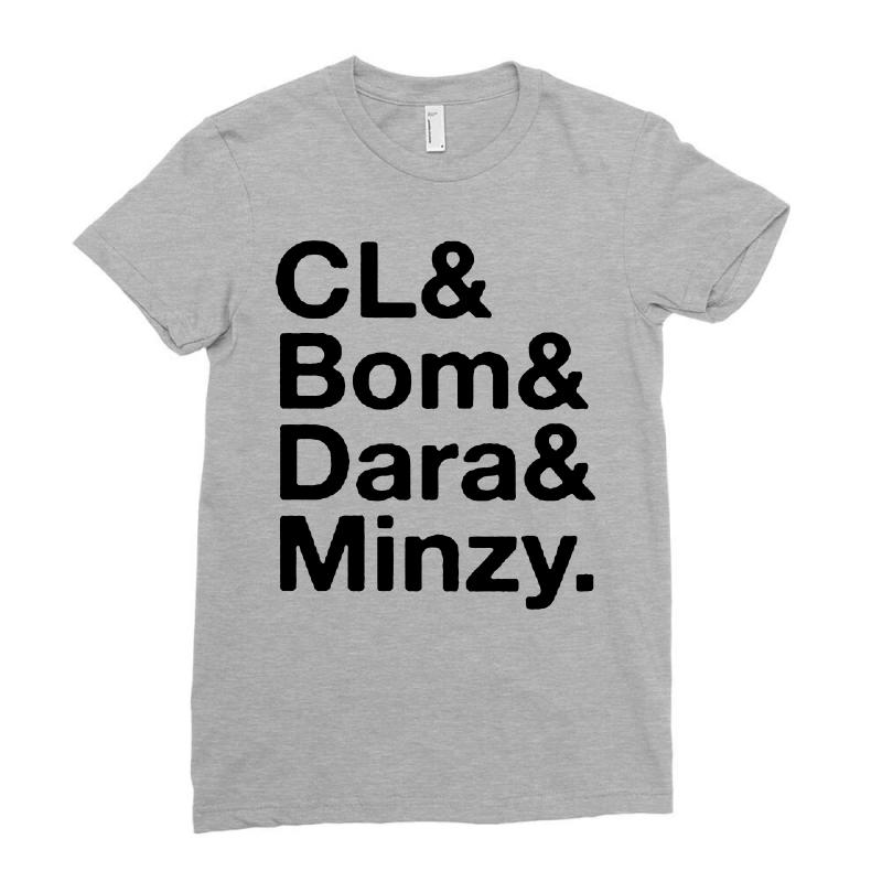 2ne1 Cl And Bom And Dara And Minzy   Black Ladies Fitted T-shirt | Artistshot