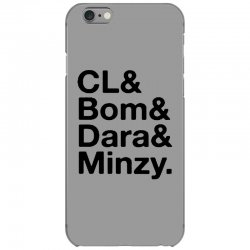 2ne1 cl and bom and dara and minzy   black iPhone 6/6s Case | Artistshot