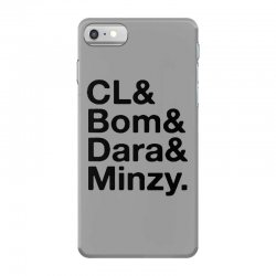 2ne1 cl and bom and dara and minzy   black iPhone 7 Case | Artistshot