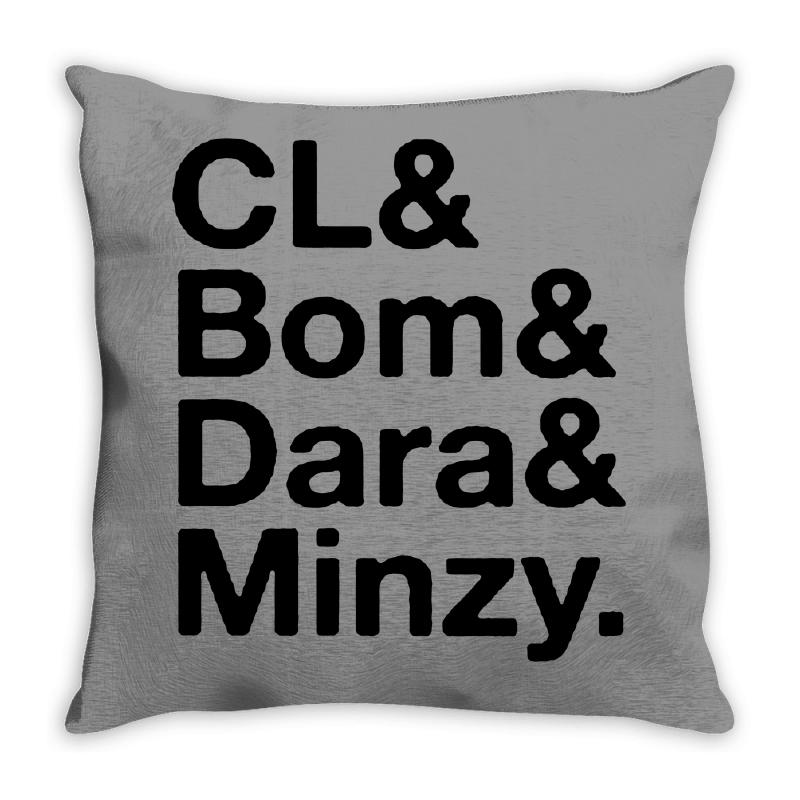 2ne1 Cl And Bom And Dara And Minzy   Black Throw Pillow | Artistshot