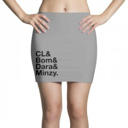 2ne1 cl and bom and dara and minzy   black Mini Skirts | Artistshot