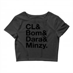 2ne1 cl and bom and dara and minzy   black Crop Top | Artistshot