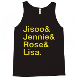 jisoo and jennie and rose and lisa   yellow Tank Top | Artistshot