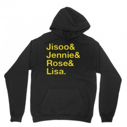 jisoo and jennie and rose and lisa   yellow Unisex Hoodie | Artistshot