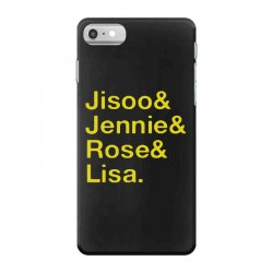 jisoo and jennie and rose and lisa   yellow iPhone 7 Case | Artistshot