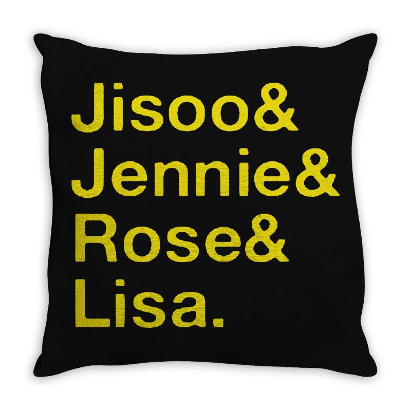 Jisoo And Jennie And Rose And Lisa   Yellow Throw Pillow | Artistshot