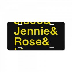 jisoo and jennie and rose and lisa   yellow License Plate | Artistshot