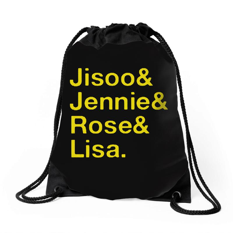 Jisoo And Jennie And Rose And Lisa   Yellow Drawstring Bags | Artistshot