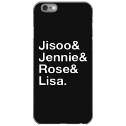 jisoo and jennie and rose and lisa   white iPhone 6/6s Case | Artistshot