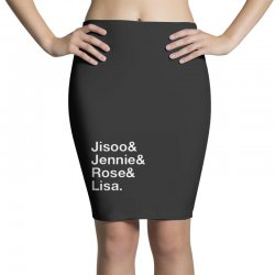 jisoo and jennie and rose and lisa   white Pencil Skirts | Artistshot