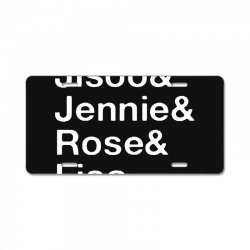 jisoo and jennie and rose and lisa   white License Plate | Artistshot
