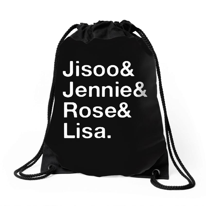 Jisoo And Jennie And Rose And Lisa   White Drawstring Bags | Artistshot