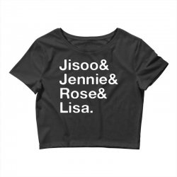 jisoo and jennie and rose and lisa   white Crop Top | Artistshot