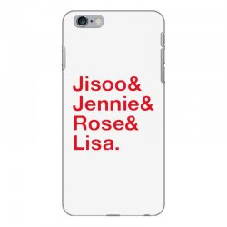 jisoo and jennie and rose and lisa   red iPhone 6 Plus/6s Plus Case | Artistshot