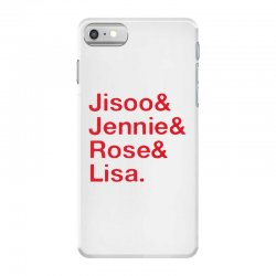 jisoo and jennie and rose and lisa   red iPhone 7 Case | Artistshot