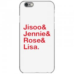 jisoo and jennie and rose and lisa   red iPhone 6/6s Case | Artistshot