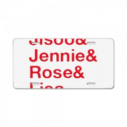 jisoo and jennie and rose and lisa   red License Plate | Artistshot