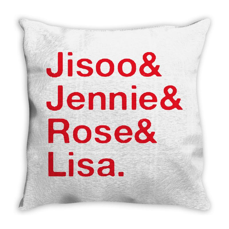 Jisoo And Jennie And Rose And Lisa   Red Throw Pillow | Artistshot