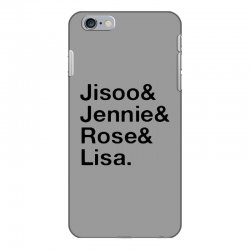 jisoo and jennie and rose and lisa   black iPhone 6 Plus/6s Plus Case | Artistshot