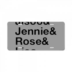 jisoo and jennie and rose and lisa   black License Plate | Artistshot