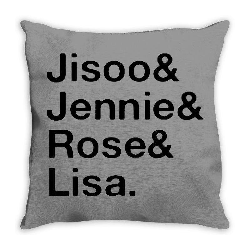 Jisoo And Jennie And Rose And Lisa   Black Throw Pillow | Artistshot