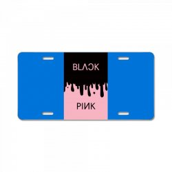 black and pink  blackpink License Plate | Artistshot