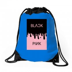 black and pink  blackpink Drawstring Bags | Artistshot