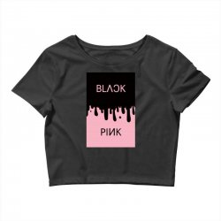 black and pink  blackpink Crop Top | Artistshot