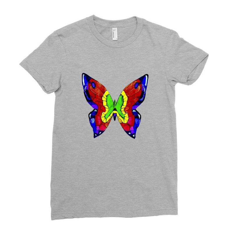 Nick Mason Butterfly Ladies Fitted T-shirt | Artistshot