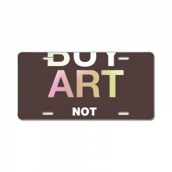 buy art not drugs License Plate | Artistshot