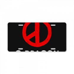 g dragon   cool peace sign License Plate | Artistshot