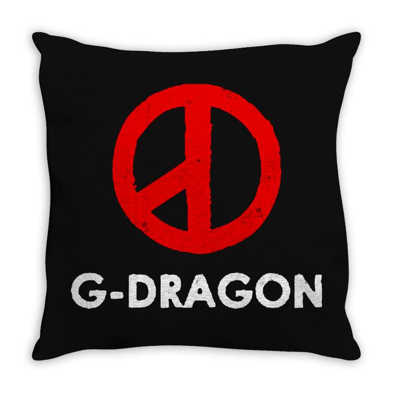 G Dragon   Cool Peace Sign Throw Pillow | Artistshot