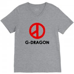 g dragon   red peace sign V-Neck Tee | Artistshot
