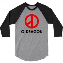 g dragon   red peace sign 3/4 Sleeve Shirt | Artistshot