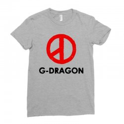 g dragon   red peace sign Ladies Fitted T-Shirt   Artistshot