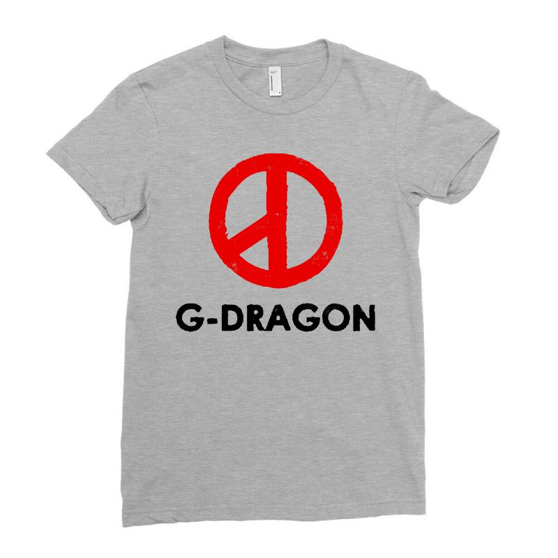 G Dragon   Red Peace Sign Ladies Fitted T-shirt | Artistshot