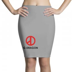 g dragon   red peace sign Pencil Skirts   Artistshot
