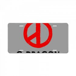 g dragon   red peace sign License Plate | Artistshot