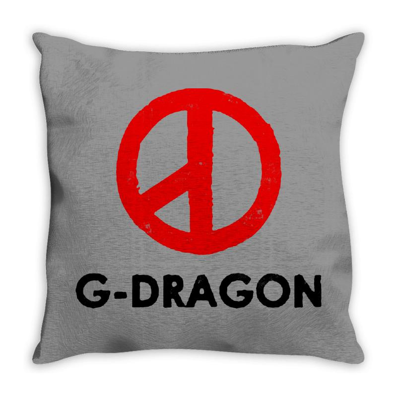 G Dragon   Red Peace Sign Throw Pillow | Artistshot