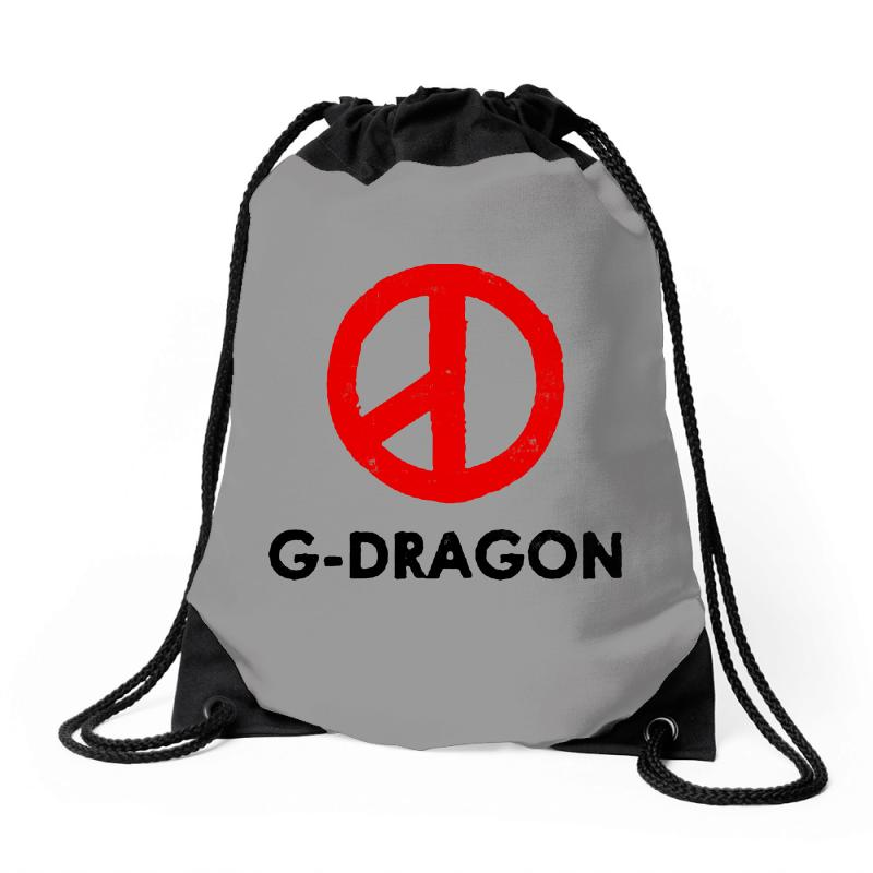 G Dragon   Red Peace Sign Drawstring Bags | Artistshot