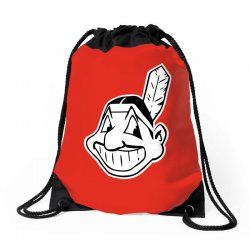 cleveland indians chief wahoo Drawstring Bags | Artistshot