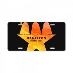 hamilton an american musical   golden License Plate | Artistshot
