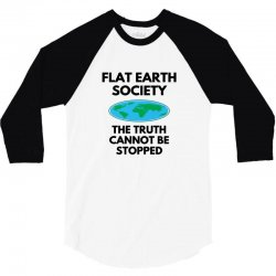 flat earth merchandise 3/4 Sleeve Shirt | Artistshot